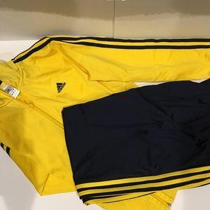 Adidas full zip sweatshirt &pants. NWOT. Size, M/S